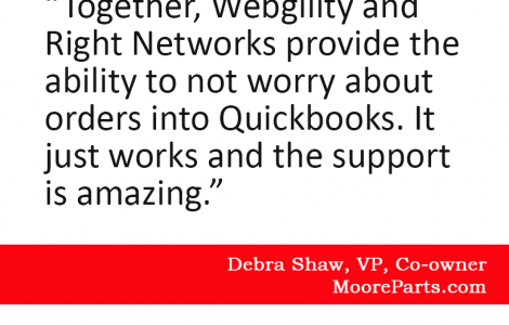 customer quote about webgility