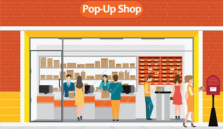 pop up shop illustration