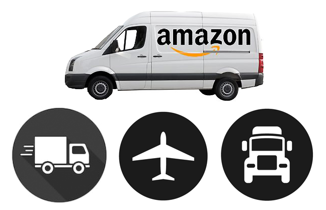 amazon delivery truck van plane