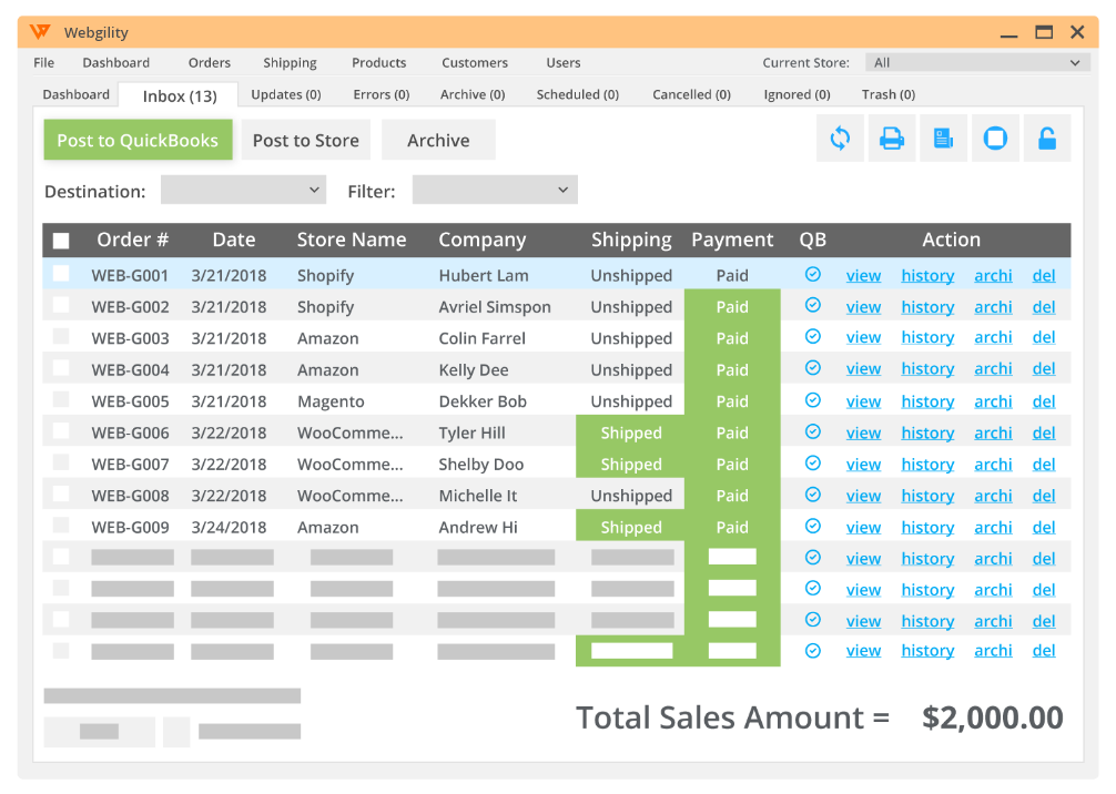 Multichannel Ecommerce Quickbooks Order Management Software