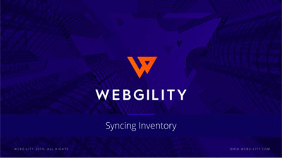 Webgility Product Feature: Syncing Inventory