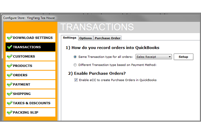 quickbooks ViArt Shop integration