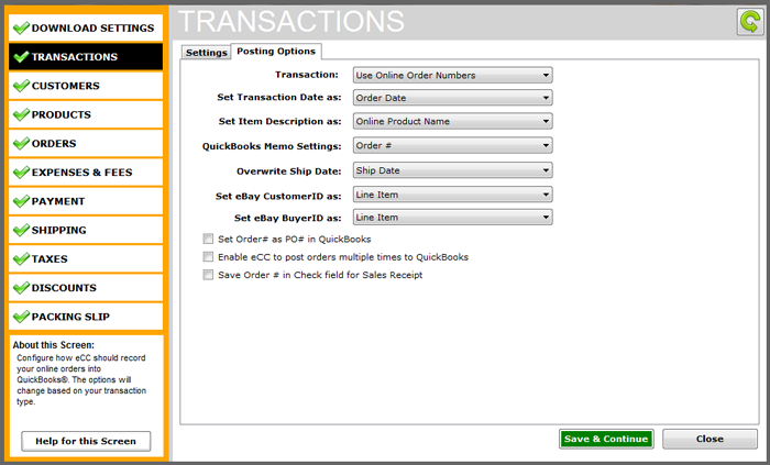eBay quickbooks integration